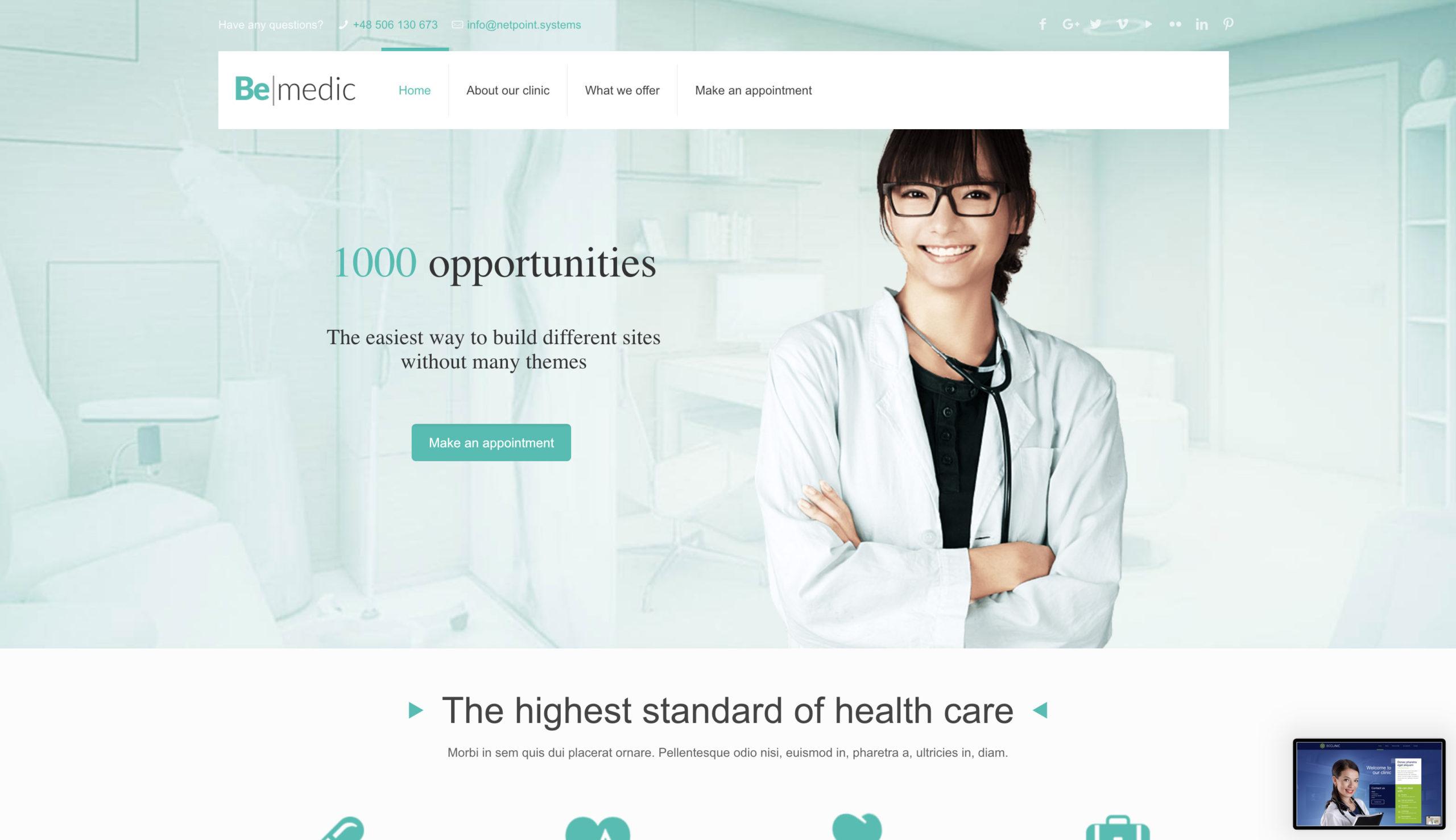 Strona internetowa – doktor