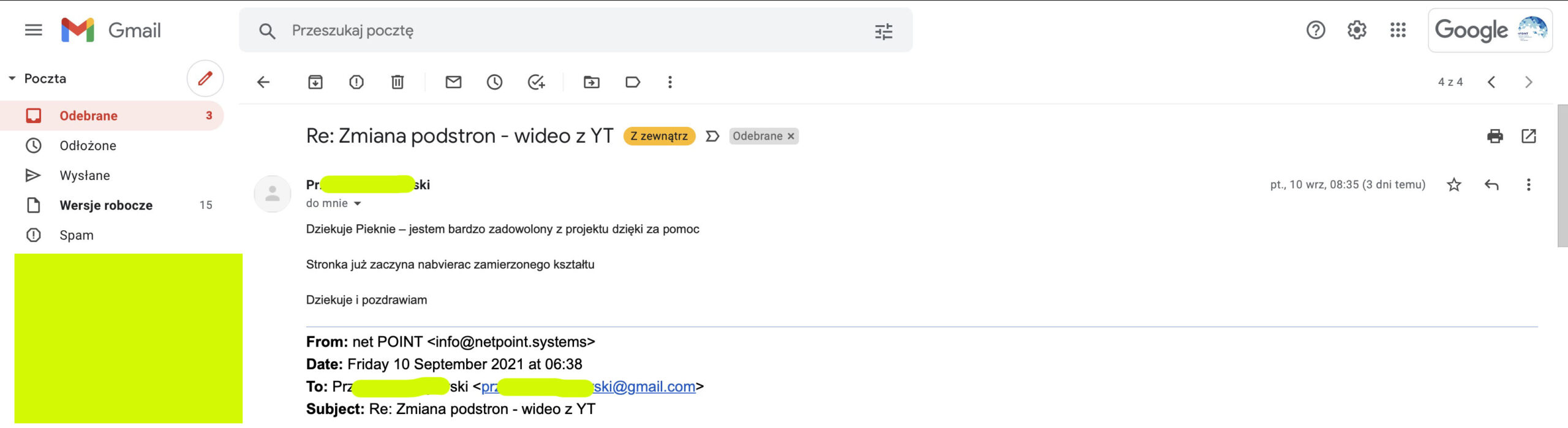 Strona internetowa – google ads – polonia